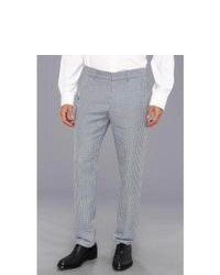 Grey Gingham Dress Pants