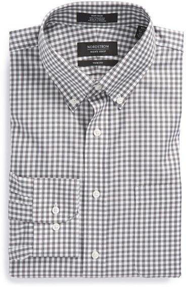 Best Place Sale Online Online Shopping Nordstrom Men's Shop Trim Fit Non-Iron Gingham Dress Shirt Cheap Sale Cheapest Price Choice Cheap Price 1ttgi