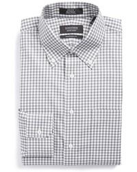 Shop traditional fit non iron gingham dress shirt medium 401685