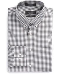 Shop trim fit non iron gingham dress shirt medium 401684