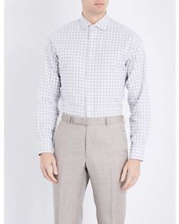 Smyth Gibson Traditional Fit Gingham Print Cotton Shirt
