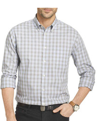 Grey Gingham Long Sleeve Shirt