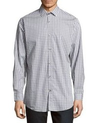 Saks Fifth Avenue Regular Fit Gingham Cotton Sportshirt