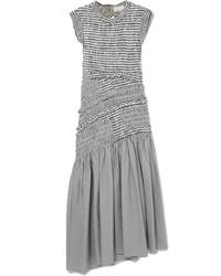 3.1 Phillip Lim Shirred Gingham Cotton Blend Midi Dress