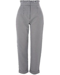 Topshop Gingham Y Ruffle Waist Trousers