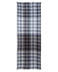 Paul Smith Gingham Block Silk And Cashmere Blend Scarf