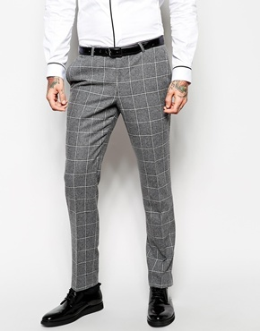 Noose Monkey Noose Monkey Check Suit Pants In Skinny Fit | Where ...