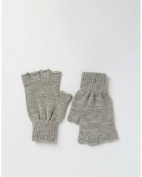 Asos Fingerless Gloves In Gray Marl