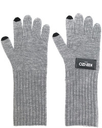 Kenzo Logo Patch Knitted Gloves