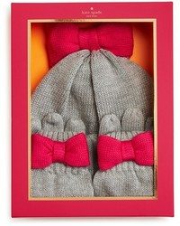 Kate Spade New York Girls Bow Hat Gloves Set