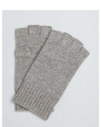 Harrison Oak Cashmere Fingerless Gloves