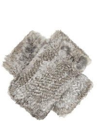 Diane von Furstenberg Rabbit Fur Fingerless Gloves