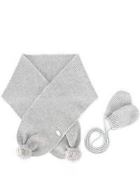 Tartine et Chocolat Knit Gloves And Scarf Set
