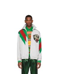 Gucci Grey Oversize Panther Jacket