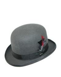 Dorfman pacific authentic scala derby bowler hat by grey large medium 48140