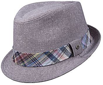 f77539bd9a2 Linen Fedora. Grey Hat by Stetson