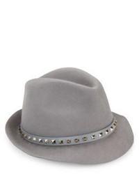 Valentino Rockstud Angora Leather Fedora