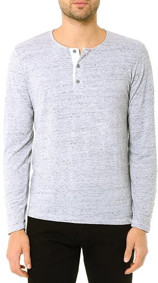 Ag jeans the commute ls henley heather grey where to buy for Kim kardashian henley shirt