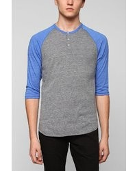 Alternative Apparel Alternative 34 Sleeve Two Tone Henley Tee