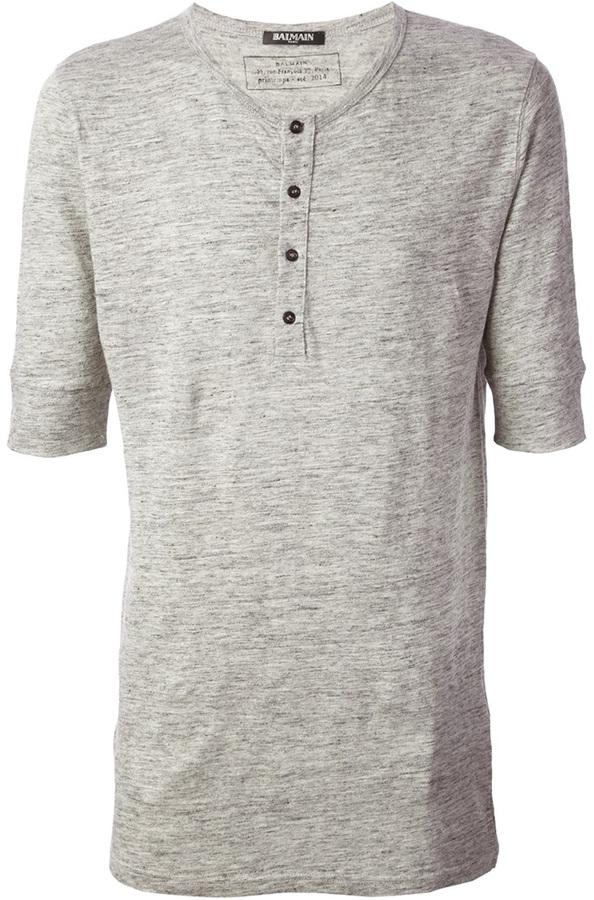 Balmain Henley T Shirt Where To Buy How To Wear