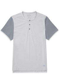 Calvin Klein Body Slim Fit Colorblock Henley Short Sleeve Shirt