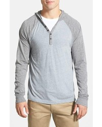 Lucky Brand Colorblock Hooded Henley