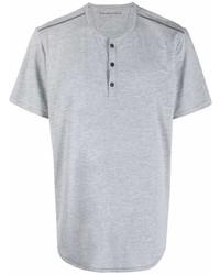 John Varvatos Contrast Stitching Buttoned T Shirt