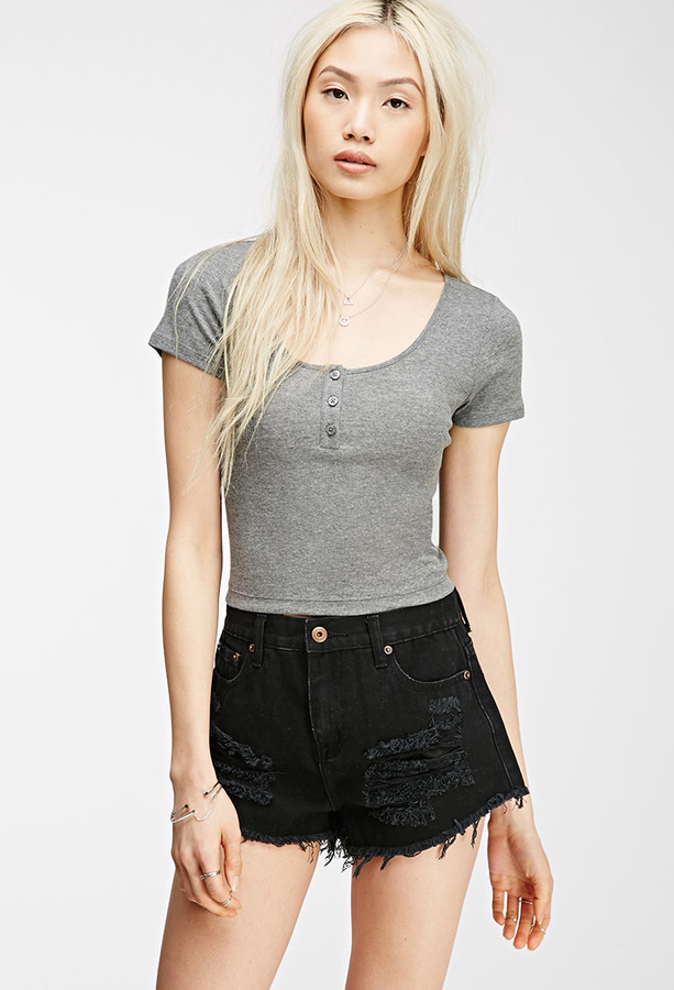 Forever 21 Henley Crop Top Where To Buy How To Wear