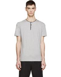 Dolce & Gabbana Grey Henley T Shirt
