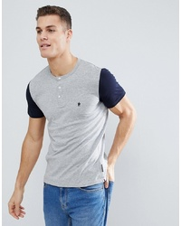 French Connection Henley Contrast Sleeve T Shirt