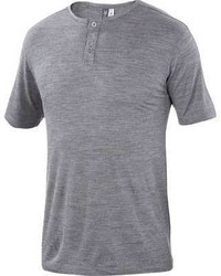 Ibex Henley T Shirt Stone Grey Heather Henley Shirts
