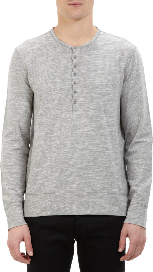 John varvatos star usa mlange henley where to buy how for Kim kardashian henley shirt