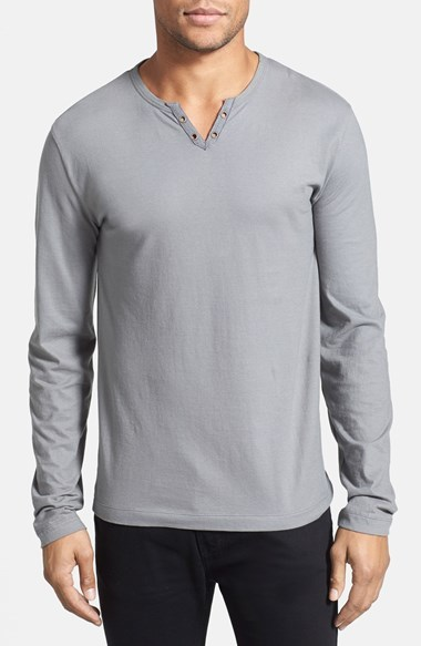 Kenneth cole new york cotton henley where to buy how for Kim kardashian henley shirt