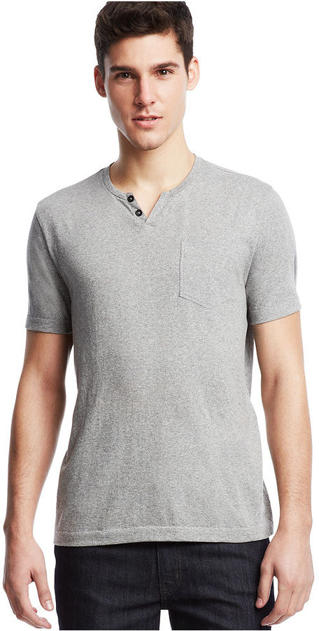 Kenneth cole reaction melange henley shirt where to buy for Kim kardashian henley shirt