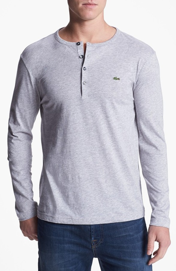 Lacoste Pima Cotton Henley Where To Buy How To Wear