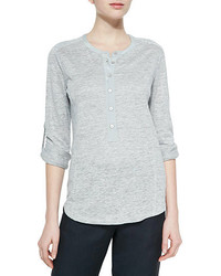 Long sleeve slub henley tee medium 172586