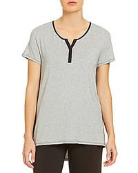Anne Klein Lounge Drirelease Short Sleeve Henley Top
