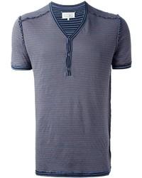 Maison Margiela Striped Henley T Shirt