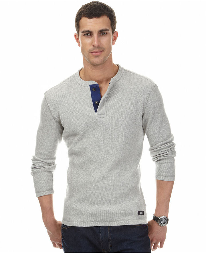 I bought my first henley at J. Crew, but it was too expensive. Where can I buy quality henleys without ripping apart my wallet? Also, I normally pair the henleys with flannel shirts and i was wondering if this combination is ok.