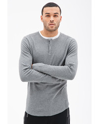 Forever 21 Paneled Thermal Henley