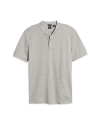 BOSS Pratt Heathered Pique Henley