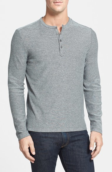 Robert barakett horace long sleeve cotton henley where for Kim kardashian henley shirt