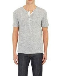 Theory Short Sleeve Autry Henley Grey Size S