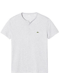 Lacoste Short Sleeve Pima Cotton Henley T Shirt Black Henley Shirts