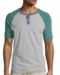 Arizona Short Sleeve Raglan Henley T Shirt