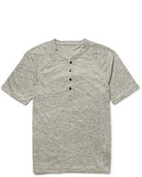 Club Monaco Slub Linen Henley T Shirt