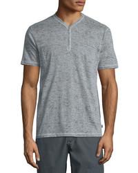 John Varvatos Star Usa Short Sleeve Henley Shirt Gray