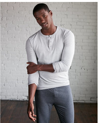 Express Supersoft Long Sleeve Henley Undershirt