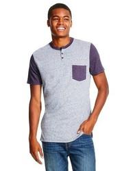 Mossimo Supply Co Short Sleeve Raglan Henley Shirt Supply Cotm