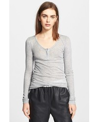 Alexander Wang T By Ribbed Henley Top